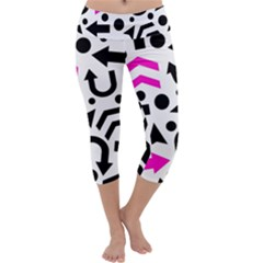 Magenta Right Direction Capri Yoga Leggings