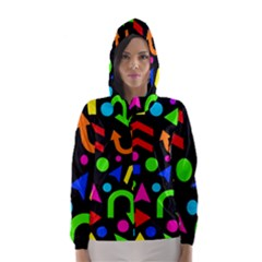 Right Direction - Colorful Hooded Wind Breaker (women) by Valentinaart