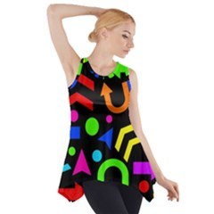 Right Direction   Colorful Side Drop Tank Tunic by Valentinaart