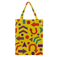 Yellow Direction Classic Tote Bag by Valentinaart