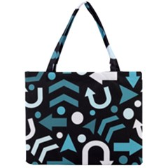 Cyan Direction  Mini Tote Bag by Valentinaart
