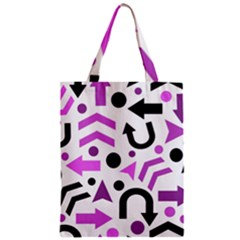 Magenta Direction Pattern Zipper Classic Tote Bag by Valentinaart