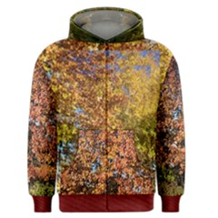 Autumn Leaves In Every Color Men s Zipper Hoodie by SusanFranzblau