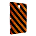 STRIPES3 BLACK MARBLE & ORANGE MARBLE (R) Samsung Galaxy Tab S (8.4 ) Hardshell Case  View3