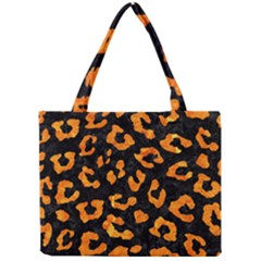 Skin5 Black Marble & Orange Marble (r) Mini Tote Bag by trendistuff