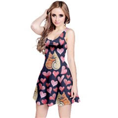 Crazy Cat Love Reversible Sleeveless Dress by BubbSnugg