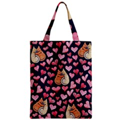 Crazy Cat Love Classic Tote Bag by BubbSnugg