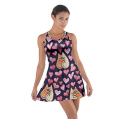 Crazy Cat Love Cotton Racerback Dress by BubbSnugg