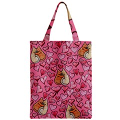 Cat Love Valentine Classic Tote Bag by BubbSnugg