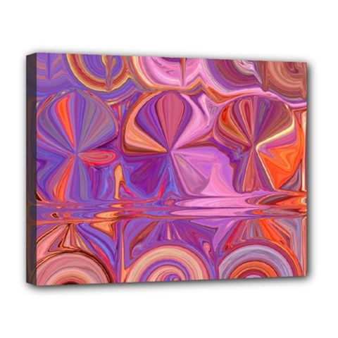 Candy Abstract Pink, Purple, Orange Canvas 14  X 11  by digitaldivadesigns