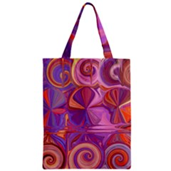 Candy Abstract Pink, Purple, Orange Classic Tote Bag