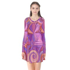 Candy Abstract Pink, Purple, Orange Flare Dress