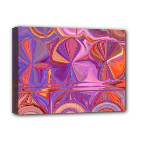 Candy Abstract Pink, Purple, Orange Deluxe Canvas 16  X 12   by digitaldivadesigns