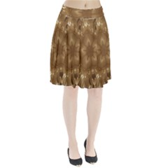 Elegant Gold Brown Kaleidoscope Star Pleated Skirt by yoursparklingshop
