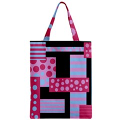 Pink Collage Zipper Classic Tote Bag by Valentinaart