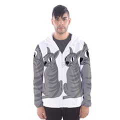 Gray Cat Hooded Wind Breaker (men)