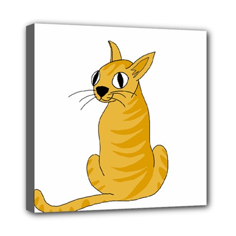 Yellow cat Mini Canvas 8  x 8