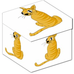 Yellow cat Storage Stool 12