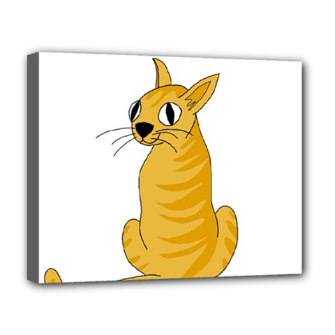Yellow cat Deluxe Canvas 20  x 16
