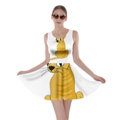Yellow cat Skater Dress