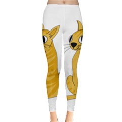 Yellow cat Leggings