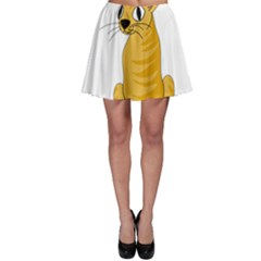 Yellow cat Skater Skirt