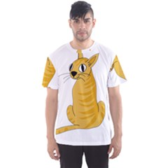 Yellow cat Men s Sport Mesh Tee