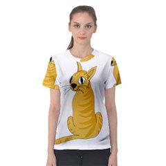 Yellow cat Women s Sport Mesh Tee