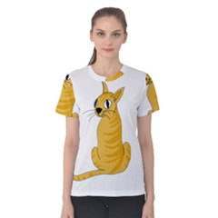 Yellow cat Women s Cotton Tee