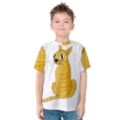 Yellow cat Kids  Cotton Tee