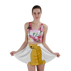 Yellow cat Mini Skirt