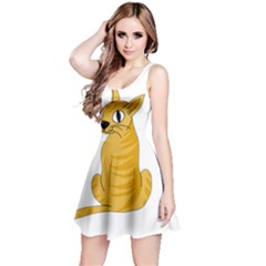 Yellow cat Reversible Sleeveless Dress