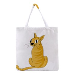 Yellow cat Grocery Tote Bag