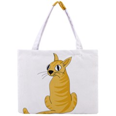 Yellow cat Mini Tote Bag