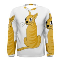 Yellow cat Men s Long Sleeve Tee