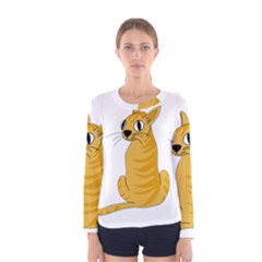 Yellow cat Women s Long Sleeve Tee