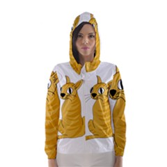 Yellow cat Hooded Wind Breaker (Women)