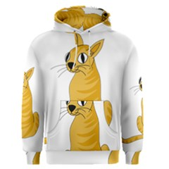 Yellow cat Men s Pullover Hoodie