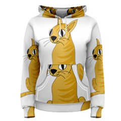 Yellow cat Women s Pullover Hoodie