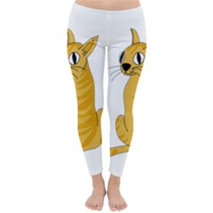 Yellow cat Classic Winter Leggings