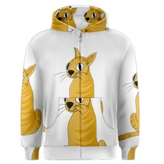 Yellow Cat Men s Zipper Hoodie