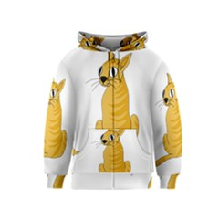 Yellow cat Kids  Zipper Hoodie