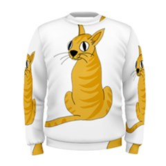 Yellow cat Men s Sweatshirt