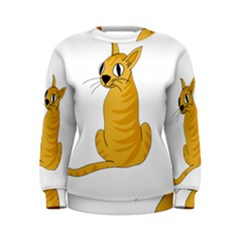 Yellow cat Women s Sweatshirt
