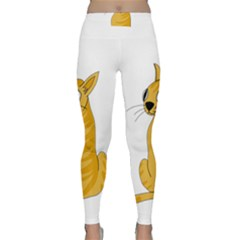 Yellow cat Classic Yoga Leggings