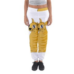 Yellow cat Women s Jogger Sweatpants