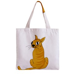 Yellow cat Zipper Grocery Tote Bag