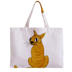 Yellow cat Zipper Mini Tote Bag