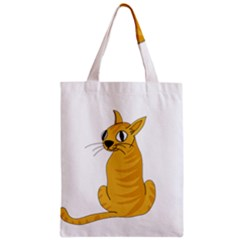 Yellow cat Zipper Classic Tote Bag