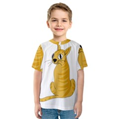 Yellow cat Kids  Sport Mesh Tee